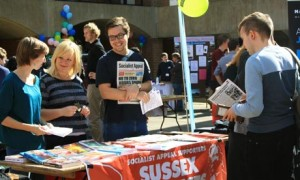 Sussex Marxists sign up freshers 2013