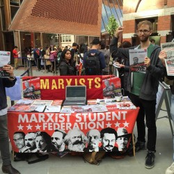 LSE Marxists at the freshers fair