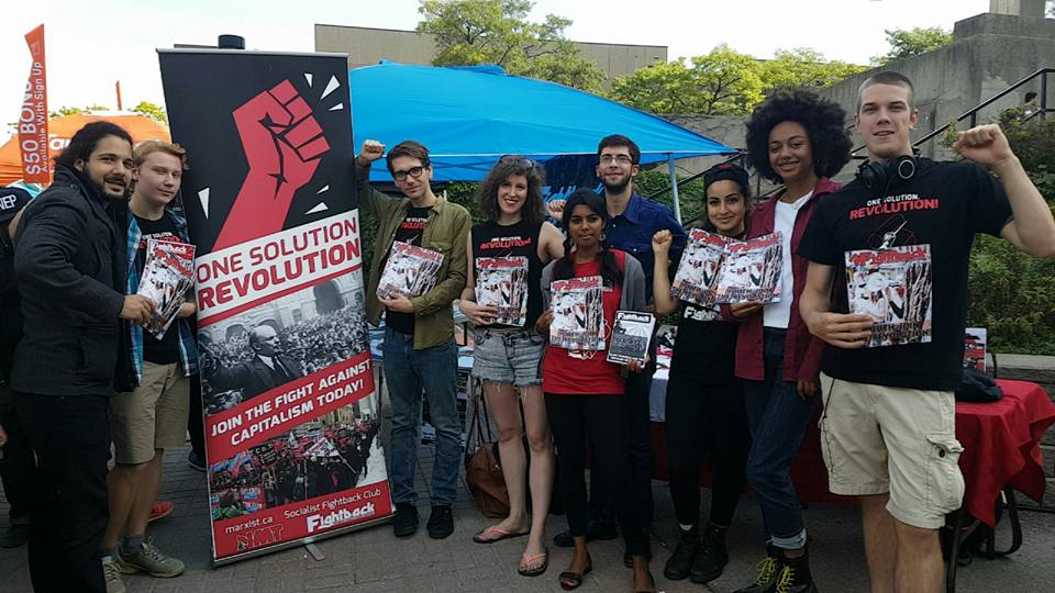 Canada: Huge success for socialist Fightback students at freshers 2016
