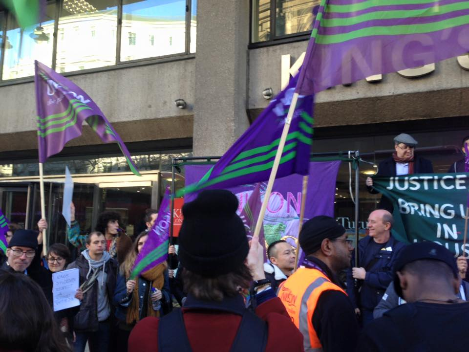 Unison members vote unanimously for KCL strike