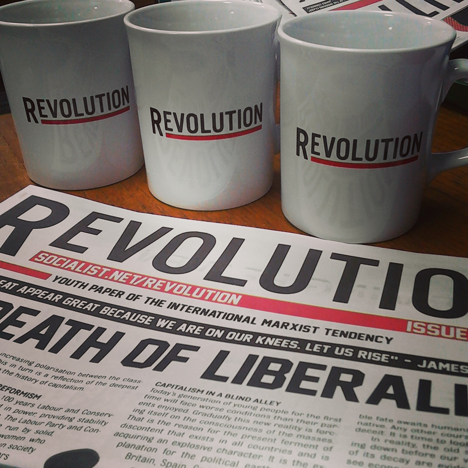 Revolutionary mugs now on sale!
