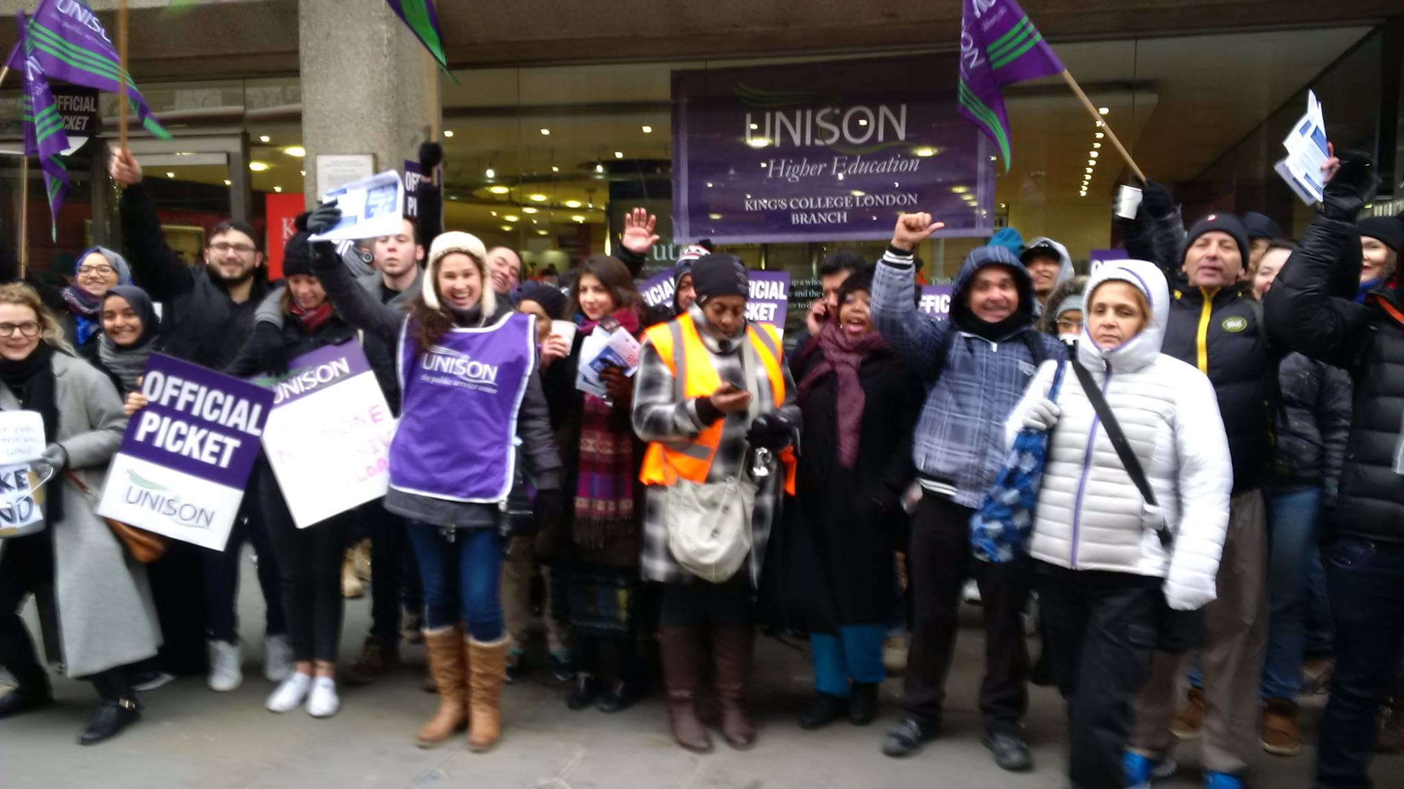 KCL Justice For Cleaners: the fight goes on!