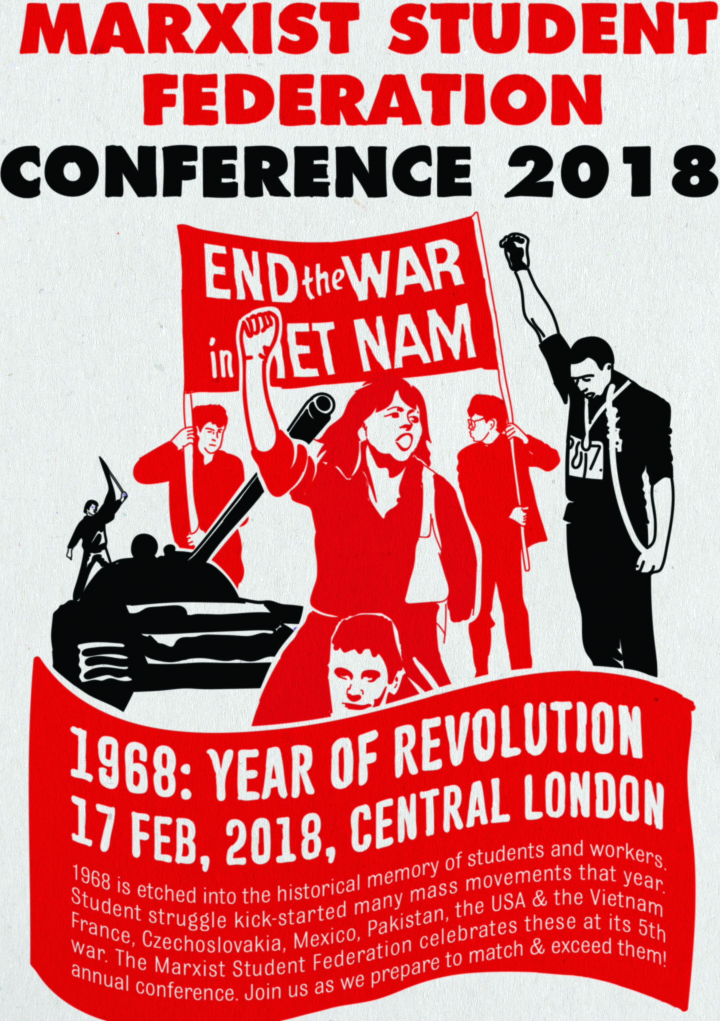 1968: year of revolution – Marxist student conference agenda and details